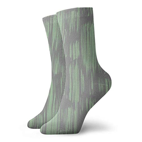 Drempad Luxury Calze Vertical Green Brush Strokes Pattern Unisex Socks, All-Season Casual...