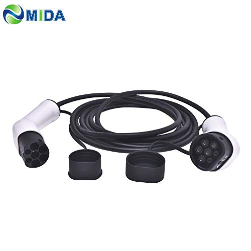 ETE ETMATE Cables de Carga EV Tipo 2 a Tipo 2 IEC62196-2 (32Amp, trifásico, 22KW) Conectores de Carga para vehículos eléctricos