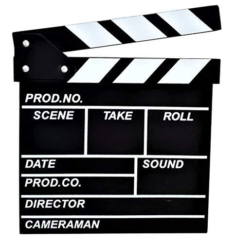 【POSITIVE】 映画撮影用 本格 ハリウッド 風 カチンコ 表は 映画 風裏は 黒板 として使える! オシャレ インテリア に! 保証書付き (1.(Bタイプ/小型サイズ))