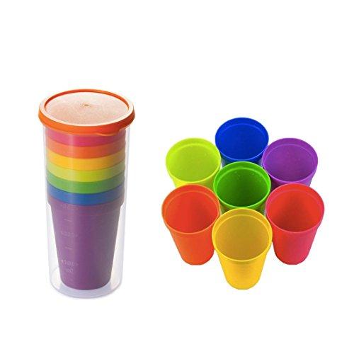 Xrten Vasos de Plástico Juego de Vasos Colores, Duros, Reut