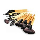 Makeup brush kit with 32 pieces and case