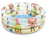 INTEX Piscine pour Bébé 3 Anneaux, 61x22 cm, 57106, Couleurs et Modèles Assorties