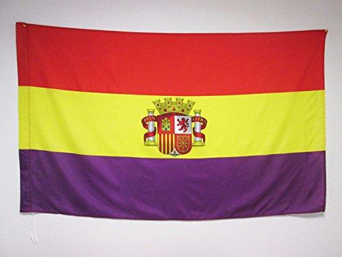 AZ FLAG Bandera ESPAÑA Republicana con Escudo 150x90cm para
