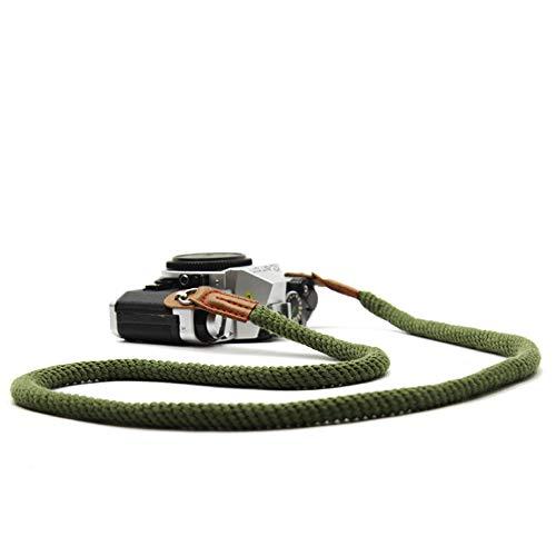 Universal Schultergurt für Systemkameras, Baumwoll Kameragurt im Retro Look Hals Trageriemen für Spiegellose Kameras (100CM)