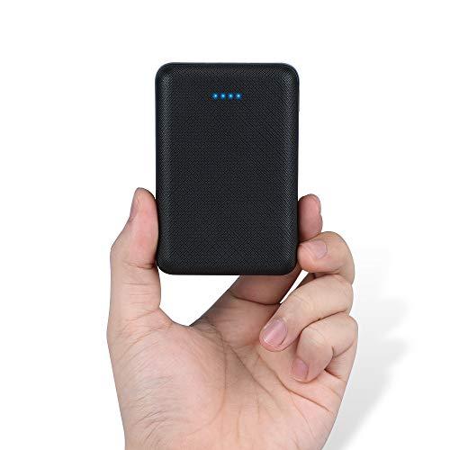 POSUGEAR Powerbank 10000mAh, New Dual Ports Externer Akku,Die kleinere und leichtere Power Bank mit LED-Statusanzeige, kompatibel mit iPhone, iPad, Samsung Galaxy und Weitere Smartphones (Schwarz)