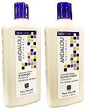 Andalou Naturals Lavender & Biotin Full Volume Shampoo & Conditioner Hair Loss Solution With Biotin Growth Serum, Aloe Vera Extract and Jojoba Oil For Men & Women, 11.5 fl. oz. each