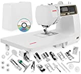 Janome 4120QDC Computerized Sewing Machine w/Hard Case + Extension Table + Instructional DVD + 1/4' Seam Foot w/Guide + Overedge Foot + Zig Zag Foot + Buttonhole Foot + More!