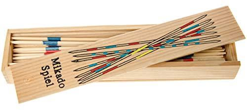 Mikado-Spiel in praktischer Holzbox, 19,5cm x 4cm