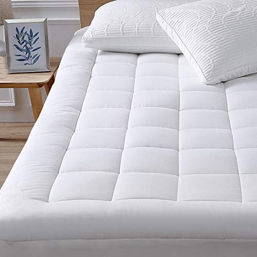 Oaskys Queen Mattress Pad Cover Cooling Mattress Topper with Down Alternative Fill