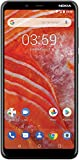 Nokia 3.1 Plus w/Android One (32GB, 3GB) 6' HD+, Face Unlock, Dual SIM GSM Unlocked Global 4G LTE (T-Mobile, AT&T, Metro, Straight Talk) International Model TA-1113 (Black)