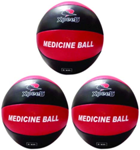 XpeeD Leather Medicine Ball Exercise Fitness Cross Fitnes Solid Gym Training Hard Ball (1 Kg to 10Kg) Weighted (1)