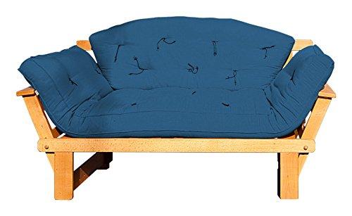 Vivere Zen - Divano Letto in Legno Artigianale con futon - Sesamo 2 posti con futon + Schienale...