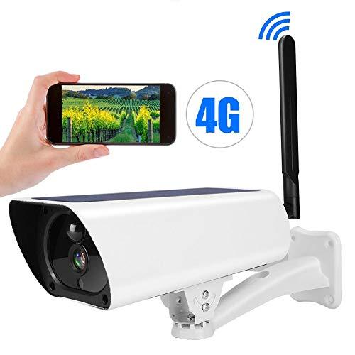 1080P Videocamera di Sorveglianza, Sistema di telecamere di sicurezza Wi-Fi, 4G Telecamera IP alimentata ad energia solare Telecamera di sicurezza per visione notturna impermeabile CCTV