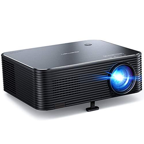 Proiettore, APEMAN Full HD Native 1080P, supporto 4K, schermo video LCD da 300 ', correzione trapezoidale elettronica...