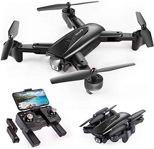 SNAPTAIN SP500 Drone avec Caméra GPS 1080P Pliable ,30 Mins Autonomie,2 Batteires,Suivez-Moi,Auto Rentrer à la Maison ,Smartcapture