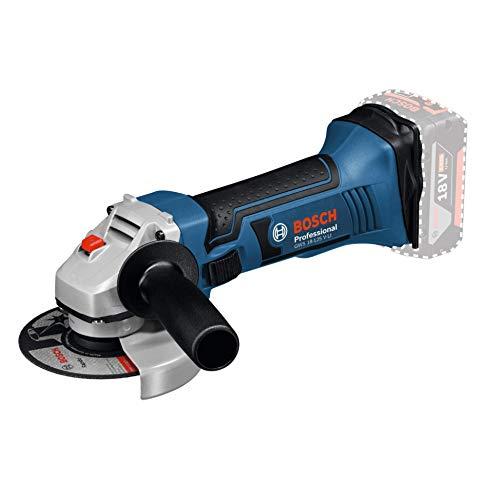 Bosch Professional 060193A307 Meuleuse Angulaire Sans Fil GWS 18-125 V-LI Solo (18 V, Ø Disque à Ébarber / à Tronçonner : 125 mm, Boîte Carton) Noir/Bleu/Argent