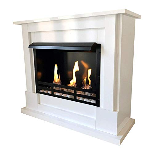 Zeus R Ethanol and Gel Fireplace White incl. 27 Pieces. Set.