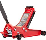 BIG RED AT84007R Torin Hydraulic Low Profile Service/Floor Jack with Dual Piston Quick Lift Pump, 4 Ton (8,000 lb) Capacity, Red