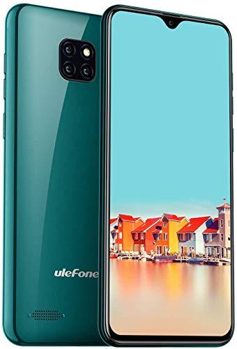 Téléphone Portable Débloqué, Caméras Arrière Triple, Ecran Waterdrop 6,1 Pouces, Smartphone Pas Cher, Face ID, Nano+Micro SIM Ulefone Note 7