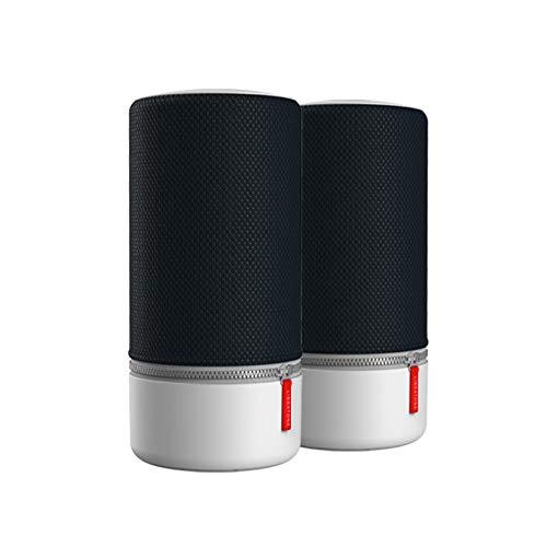 Libratone ZIPP 2 MultiRoom-bundel 2 stuks, slimme draadloze luidsprekers (Alexa Integration, AirPlay 2, 360 Sound, Wi-Fi, Bluetooth, Spotify Connect, 12 uur batterij) Stormachtig zwart