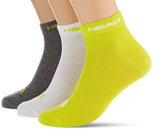 Head Performance Crew Socks (3 Pack) Calzini, Lime, 43/46 Unisex-Adulto