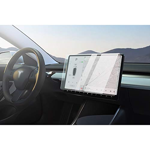 CDEFG para Tesla Model 3 Protector de Pantalla de Vidrio Templado, HD Auto 9H GPS Navi película protegida Glass (15 Inches)