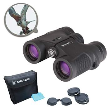 MEADE Instruments – Rainforest Pro 10x32 Compact Outdoor Bird Watching Sightseeing Sports Concerts Travel Professional HD Binoculars for Adults – Fully Multi-Coated BaK-4 Prisms – Durable & Waterproof, Black (125041)