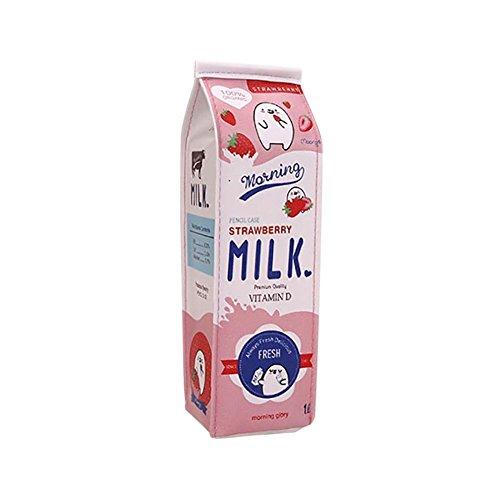 Kentop, astuccio in cartone latte, grande capacit, in poliuretano, per ufficio, scuola, materiale di fornitura (rosa)