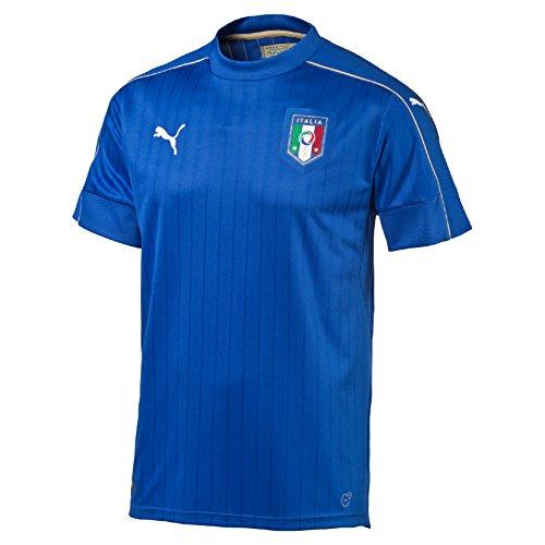 PUMA FIGC Italia Home Replica Maglietta, Blu, L