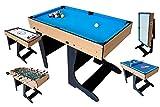 Riley Table Multi-Jeux Pieds Pliables