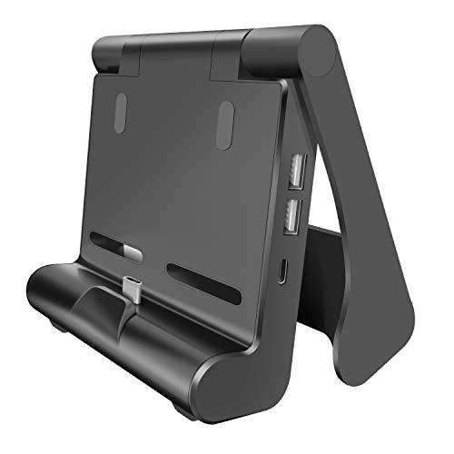 【最新ミニサイズ】Switch ドック 小型 TV出力 HDMI変換 放熱対策 ドック替換 折りたたみ可 持ち運び簡単 ...