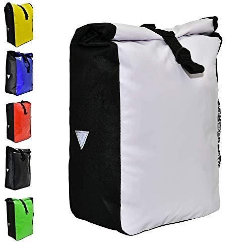 Büchel Fahrradtasche aus Tarppaulin, Befestigung am Gepäckträger, weiß, 81516011