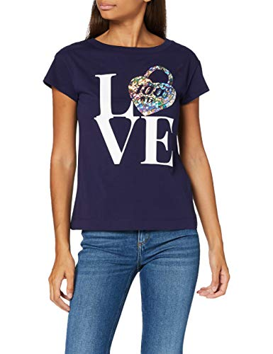 Love Moschino T-Shirt, Blue, 40 Donna