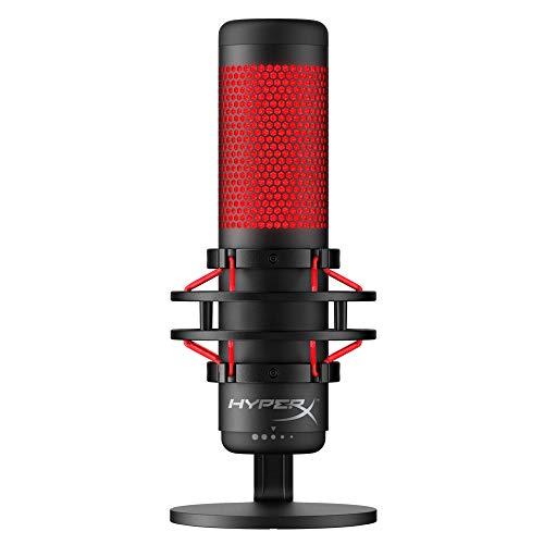 HyperX QuadCast Table Microphone Negro, Rojo - Micrófono (Table...