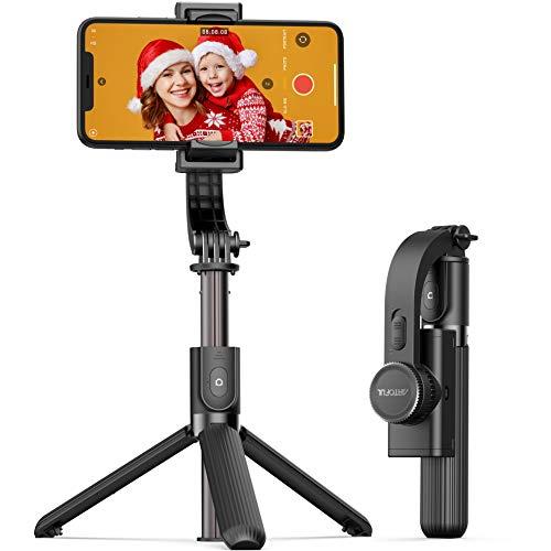 ARTOFUL Gimbal Smartphone Bastone Selfie 1 Assi Stabilizzatore per Vlog Youtuber con Telecomando Wireless Rotazione di 360 Compatibile con iPhone, Android Phones