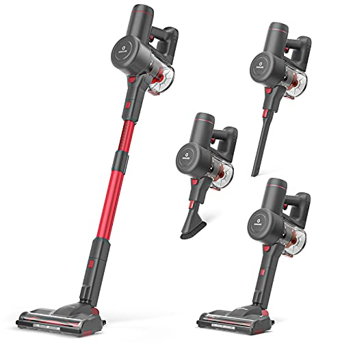 NEQUARE Cordless Vacuum, 175W Stick Vacuum Cleaner with Self-Standing, Root Cyclone Technology, 40mins Long Runtime, Lightweight Multi-Surface & Pet Hair Cleaning, S12 Series