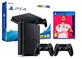 PS4 Slim 500Go Console Playstation 4 Noir + FIFA 20 + 2 manettes Dualshock...