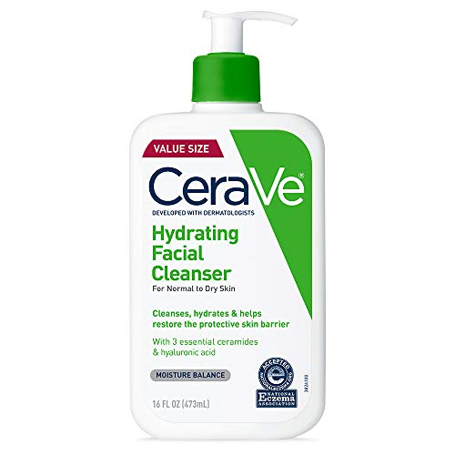 CeraVe Hydrating Facial Cleanser | Moisturizing Non-Foaming...
