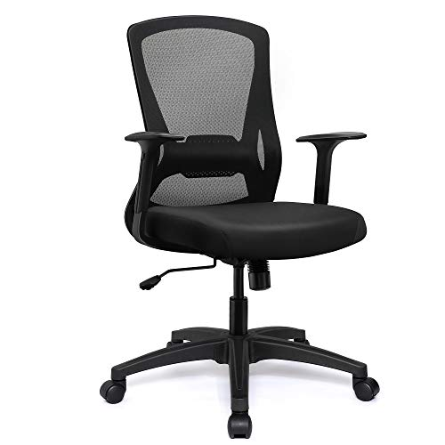 VigorPow Ergonomic Mesh Office Chair Swivel Home Office Desk Chair Black Mesh Computer Chair with Adjustable Height Lumbar Support Office Executive Task Chairs