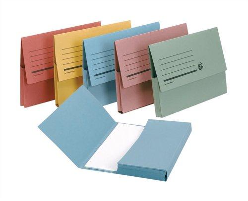 5 star Document Wallet - Paquete de 50 carpetas A4, multicolor