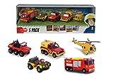 Dickie Toys- Sam Le Pompier Set de véhicules 5 pièces, 203094002