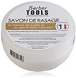 Savon de rasage 150ml au gel d'Aloé Vera Bio et au Beurre de Karité - Fabriqué en FRANCE ✮ BARBER TOOLS ✮
