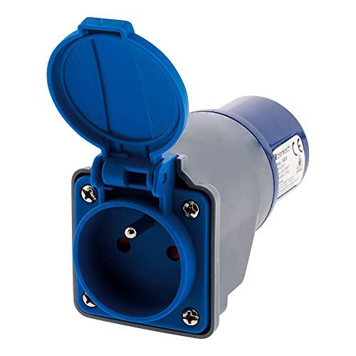 Adaptateur compact sans câble Femelle 16A 2P+T en Mâle CEE17 pour...