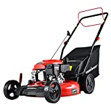 PowerSmart Self Propelled Lawn Mower, 21 Inch Gas Powered Lawn Mower with 170CC 4-Stroke Engine, 3-in-1 Mower with Bag, 5 Cutting Heights Adjustable (1.2''-3.0'')