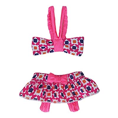 Fun retro print bikini with elastic straps andvelcroclosures.Swim in style. Bottom has a bow detail andvelcroclosures.Lightweight fabric.95% polyester / 5% spandex. Our designers use experience from high-end fashion to bring high-quality desig...