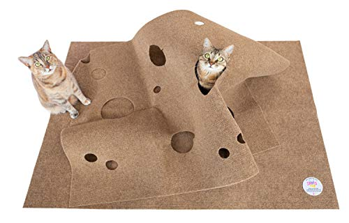SnugglyCat The Ripple Rug - Made in USA - Cat Activity Play Mat - Insulated Base Keeps Kitty Cool - Fun Interactive Play - Training - Scratching - Bed Mat