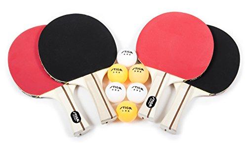 STIGA Performance 4-Player Table Tennis Racket Set with...