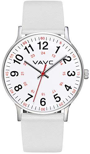 VAVC Nurse Watch for Medical Students,Doctors,Women with Second Hand and 24 Hour. Easy to Read Watch