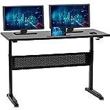 Standing Desk Converter Computer Workstation Height Adjustable Desk Large Desktop Stand Up Desk Ergotron Laptop Sit-Stand Desk Fit Dual Monitor for Home Office Black,48inches