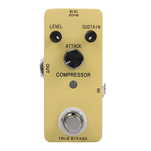 Bnineteenteam Guitar Compression Effect Pedal,True Bypass Compressor Guitar Effect Pedal Guitar Parts Accessories